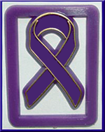 Purple Ribbon Paper Clips - Bag of 100 clips (Special Sale).