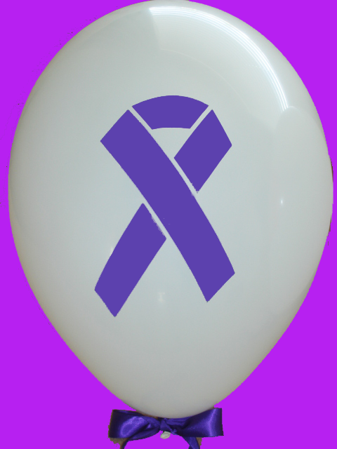 Purple Ribbon Balloons