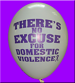 There's No Excuse For DV - Balloons