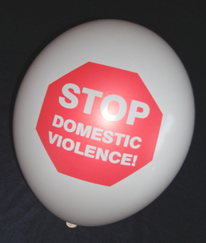 Stop Domestic Violence Balloons