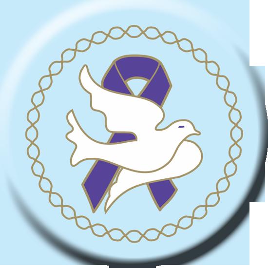 Dove Purple Ribbon - Button