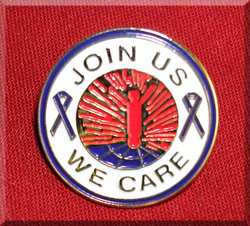 Join Us We Care Lapel Pin