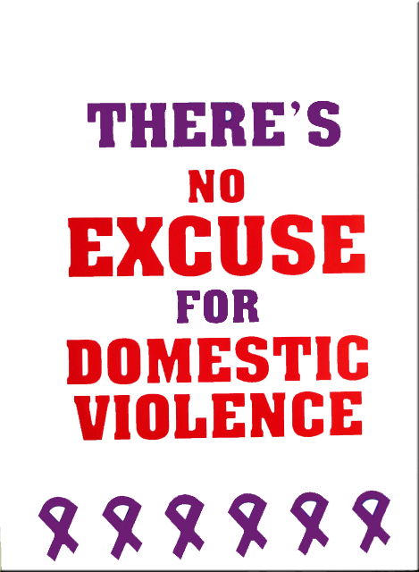 "There's No Excuse For Domestic Violence  (18""x24"") Poster"