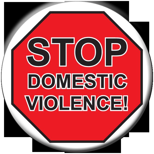Stop Domestic Violence! - Button