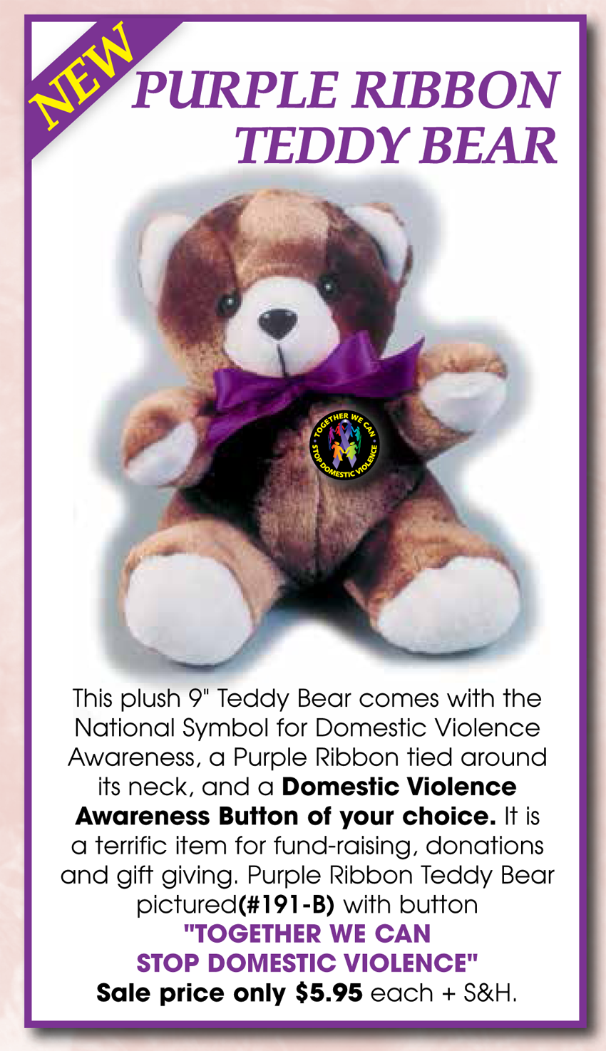 TOGETHER WE CAN STOP DV - Teddy Bear
