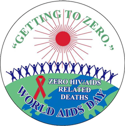 """""""GETTING TO ZERO"""" - World AIDS Day Lapel Pin"""