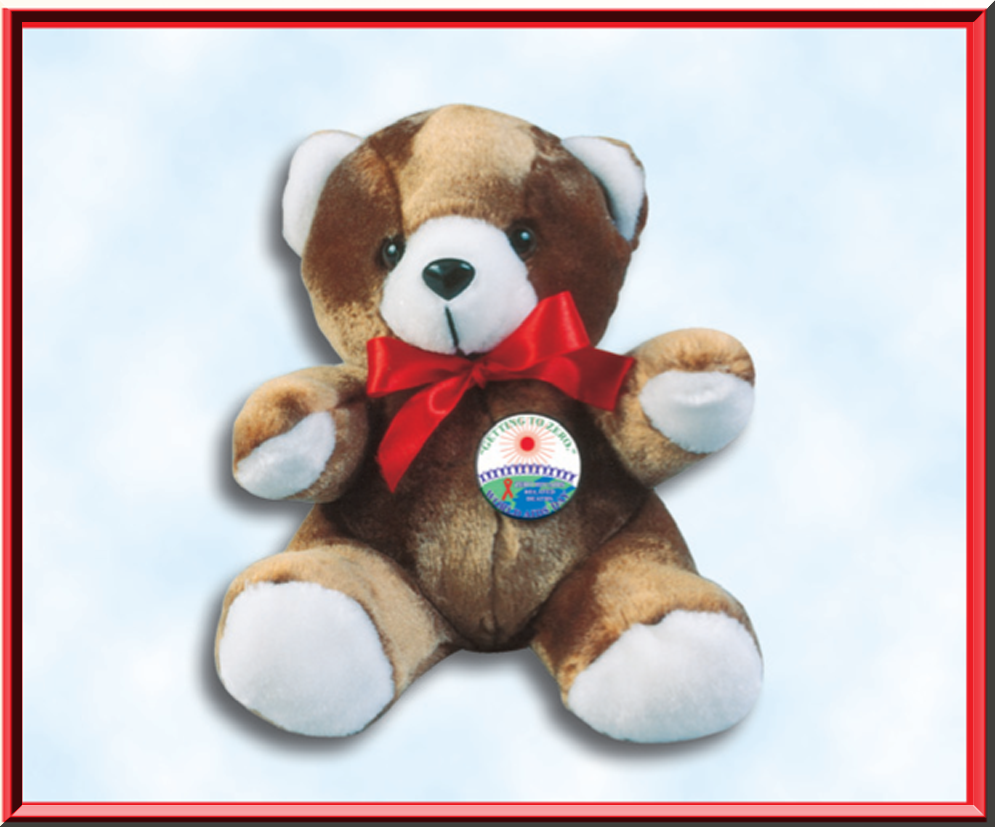 *AIDS AWARENESS KNOW YOUR STATUS 2018 WAD - Teddy Bear