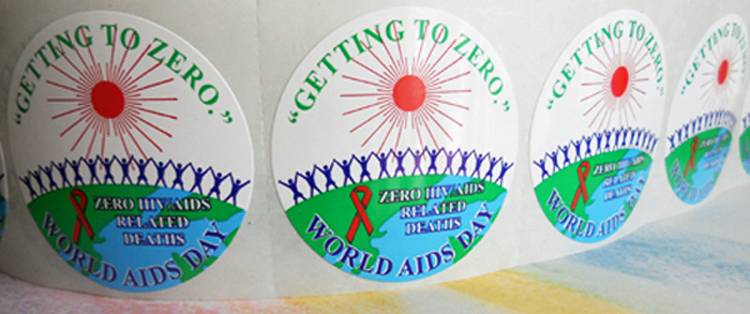 """Getting to Zero"" 2014 WAD Stickers-Roll of 1,000"