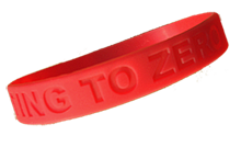 """GETTING TO ZERO."" Wristbands-Bag of 25"