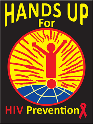 """HANDS UP FOR HIV PREVENTION"" - 2016 WAD Poster(18""x24"")"