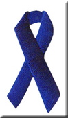 Embroidered BLUE Ribbon Appliques - Package of 100