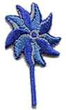 "2"" Embroidered Pinwheel Appliques-Package of 50"
