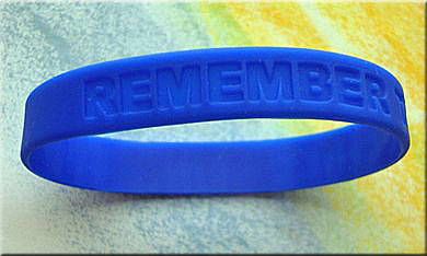 PREVENT CHILD ABUSE & NEGLECT PINWHEEL Wristbands-Bag of 25 *See sale prices.