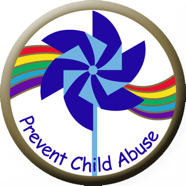Pinwheel with Rainbow - Button