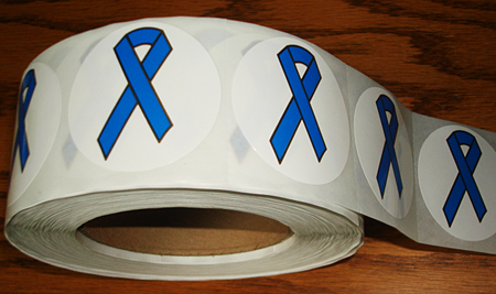 BLUE RIBBON Stickers-Roll of 1,000