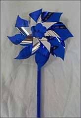 "Blue Pinwheels on a stick - Box of 24 Pinwheels Plus a Free 18x24"" poster with your order."