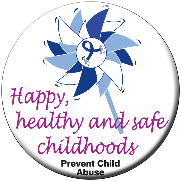 Happy, healthy & safe...pinwheel stickers - Roll of 1000
