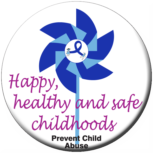 Happy, healthy & safe pinwheel stickers - Roll of 1000