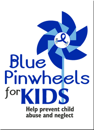 "Blue Pinwheels on a stick - Box of 25 Pinwheels Plus a Free 18x24"" poster with your order."