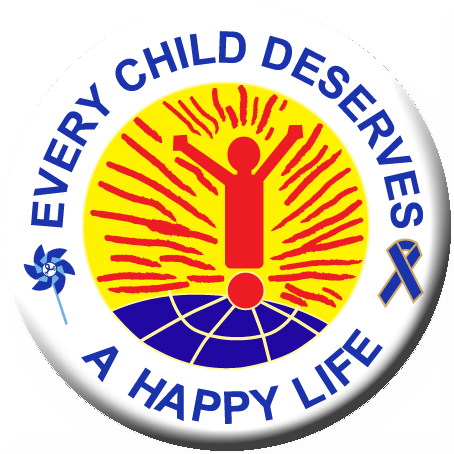 Every Child Deserves A Happy Life - Button