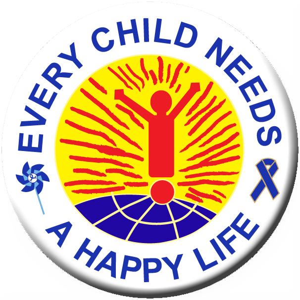 EVERY CHILD NEED A HAPPY LIFE- Roll of 1000 Stickers
