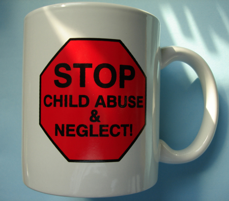 Stop Sign/Child Abuse - MUG