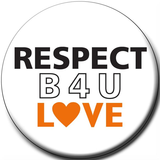 """""""B4U LOVE"""" - 1½"""" Buttons"""