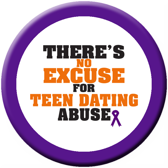 """NO EXCUSE DATING ABUSE  - 1½"" Buttons"