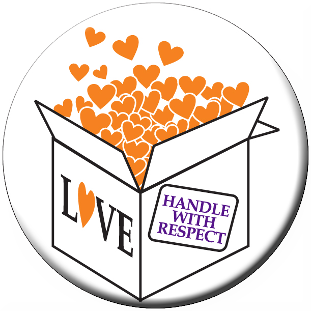 """HANDLE WITH RESPECT"" - 1½"" Buttons"
