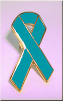 Teal Ribbon - Lapel Pin