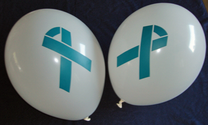 TEAL RIBBON - Balloons