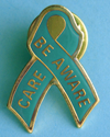 Be Aware/Care - Teal Ribbon Lapel Pin