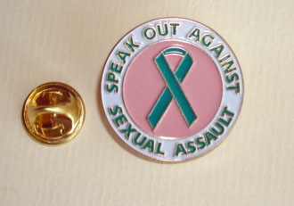 SPEAK OUT-Teal Ribbon Lapel Pin