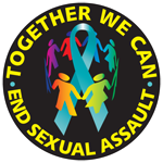 """TEAL RIBBON/END SEXUAL ASSAULT - 1½"""" Button"""