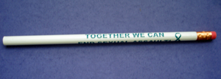 TOGETHER WE CAN TEAL RIBBON- Pencil