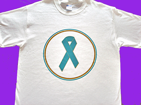 TEAL RIBBON - Tee-Shirt