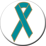 TEAL RIBBON - Buttons