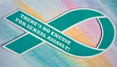 "NO EXCUSE FOR SEXUAL ASSAULT!- 3½""x 8"" Magnet"