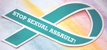 "STOP SEXUAL ASSAULT!- 3½""x 8"" Automobile Magnet"