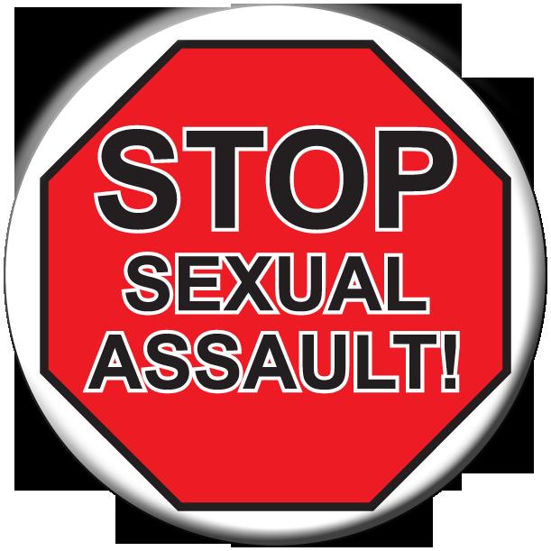STOP SEXUAL ASSAULT!- Button