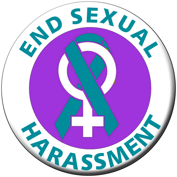 END SEXUAL HARASSMENT/ Women's Sign- Roll of 1000 Stickers