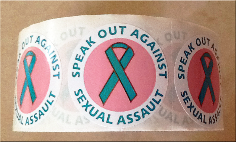 SPEAK OUT AGAINST SEXUAL ASSAULT!- Roll of 1000 Stickers