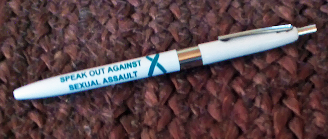 SPEAK OUT AGAINST SEXUAL ASSAULT -Pen