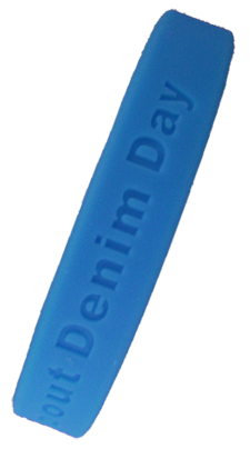 642-ASK ME ABOUT DENIM DAY Wristbands -          Bag of 25