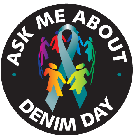 "Ask Me About Denim Day - 2¼"" Buttons"