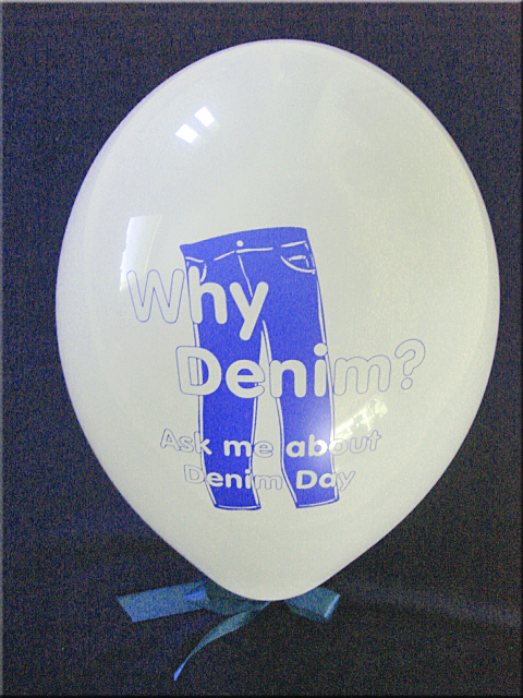 WHY DENIM? Ask me about denim day - Bag of 100 Balloons