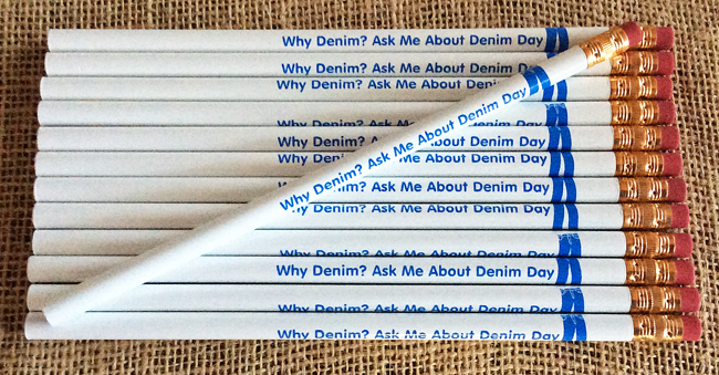 Why Denim? Ask Me About Denim Day - Pencil