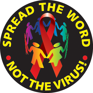 """""""Spread the word - not the virus! - Button"""