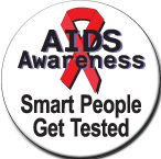 """""""Smart People Get Tested"""" Stickers - Roll of 1,000"""