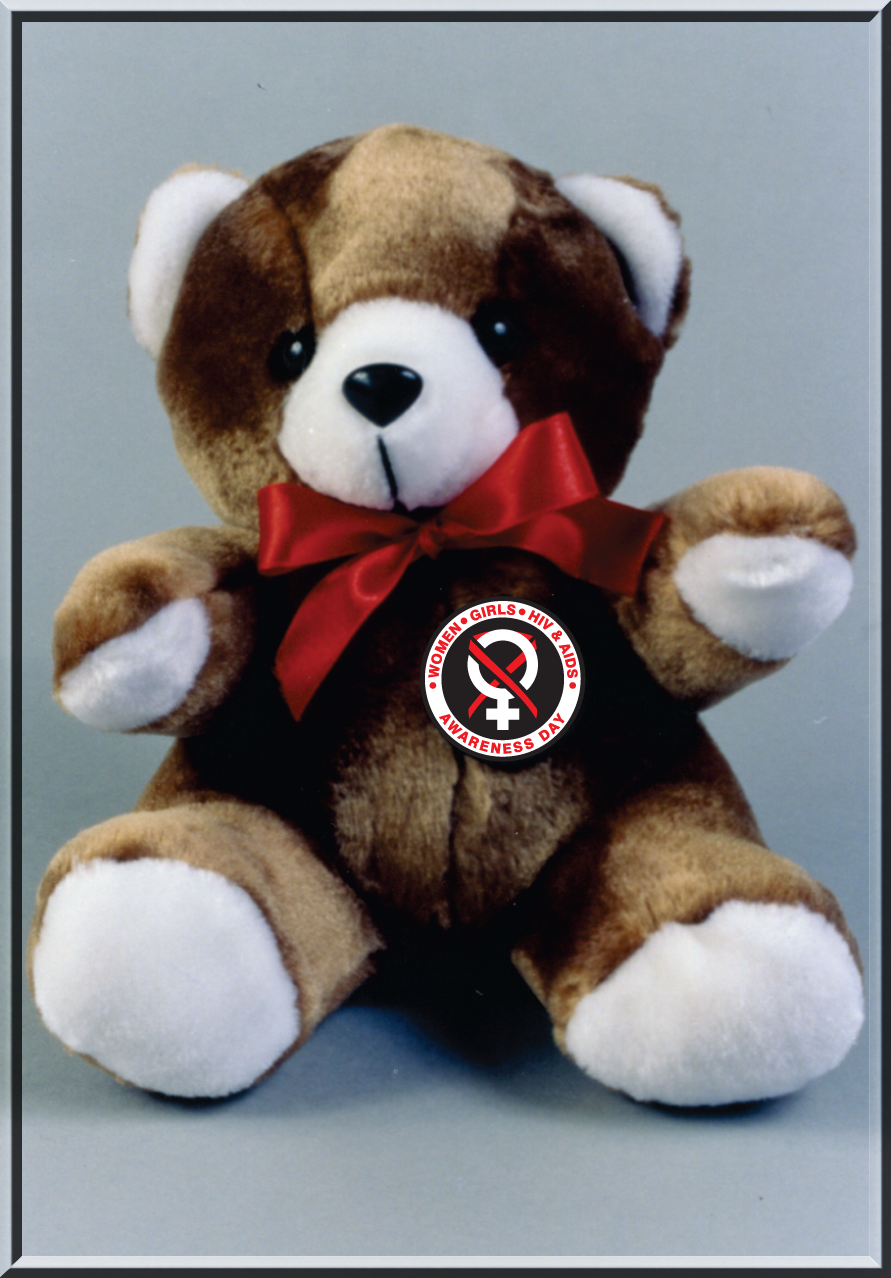 "Women, Girls HIV & AIDS - 9"" Plush Teddy Bear"